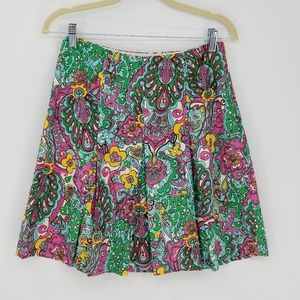 Lilly Pulitzer Paisley Print Pleated Skirt